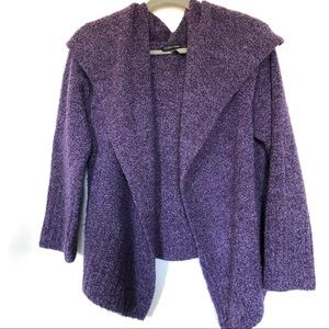 Eileen Fisher Wool Cashmere Blend Hooded Cardigan